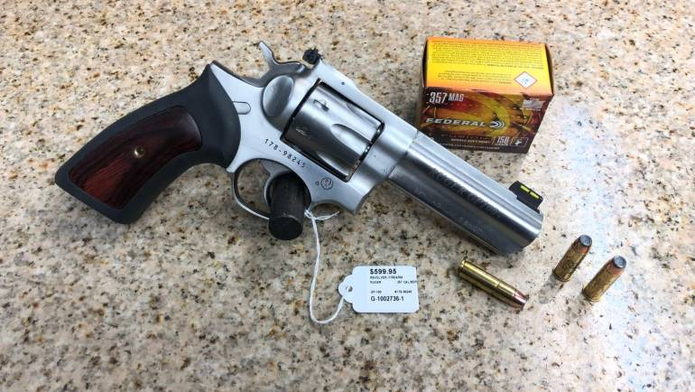 Used Ruger GP100 Stainless 7-shot .357 Revolver