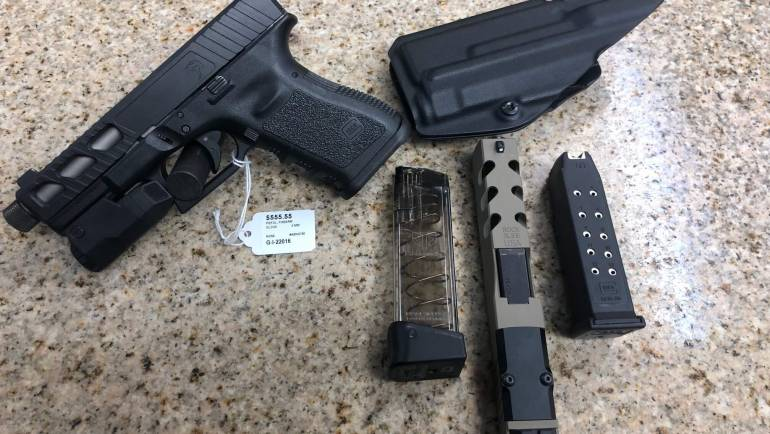 Glock 19 W/ Inforce Light, Holster, .40 Slide,  and Mags
