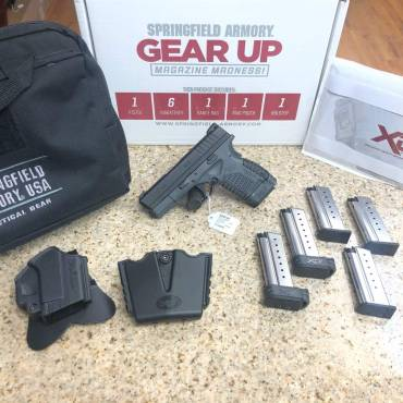 Used Springfield Armory XDS-9 Grey With Gear & 6 Mags