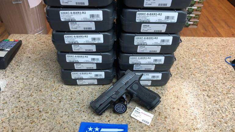 Sig Sauer P320 X Series Compact 9mm Shipment